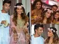 Lovebirds Bipasha-Karan's candid pictures from their mehendi ceremony