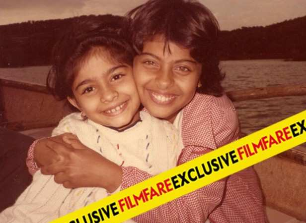 Kajol with sister Tanisha