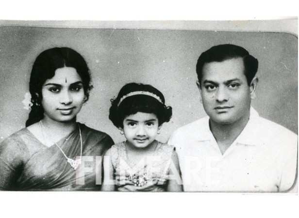 Baby Sridevi with her parents