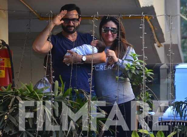 Saif Ali Khan, Kareena Kapoor Khan and Taimur Ali Khan