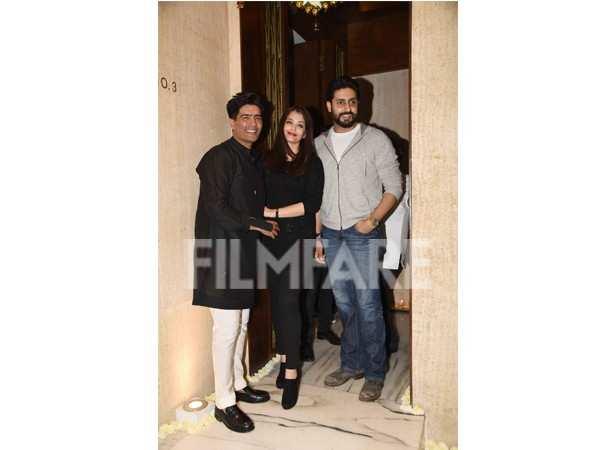 Abhishek Bachchan, Aishwarya Rai and Manish Malhotra