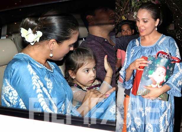 Lara Dutta Bhupathi, Saira Bhupathi and Mahesh Bhupathi