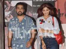 Shilpa Shetty and Raj Kundra clicked at the movies