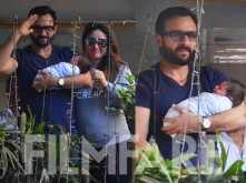 Saif Ali Khan and Kareena Kapoor Khan take baby Taimur Ali Khan home