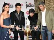 Karan Johar and Alia Bhatt glam up the 62nd Jio Filmfare Awards press conference