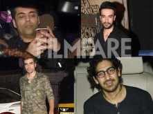 Karan Johar, Ayan Mukerji, Imtiaz Ali, Vikas Bahl, Punit Malhotra spotted at Alia Bhatt's house