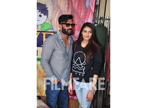 Suneil Shetty and Athiya Shetty
