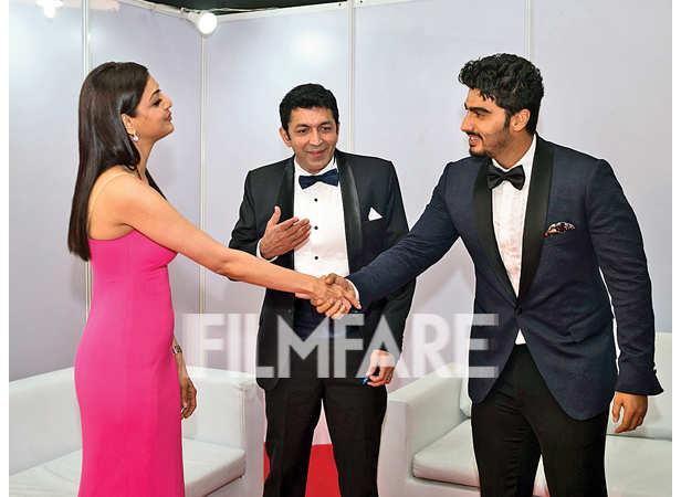 Kajal Aggarwal, Kunal Kohli and Arjun Kapoor meet up