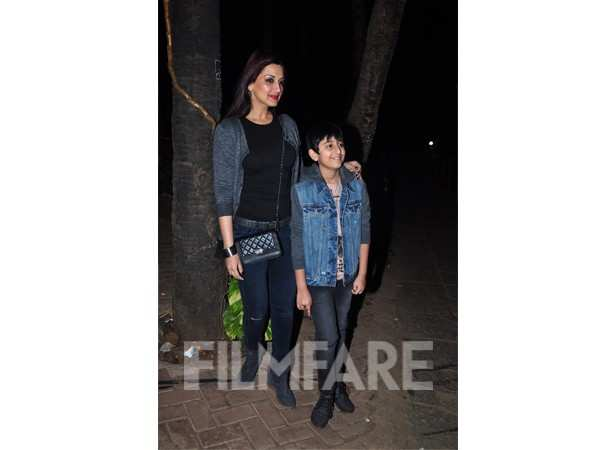 Sonali Bendre with son, Ranveer