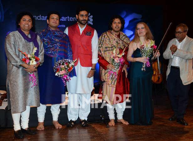 Abhishek Bachchan, Amaan Ali Khan and Ayaan Ali Khan