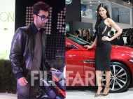 Ranbir Kapoor and Katrina Kaif in Delhi at Auto Expo 2016 together!