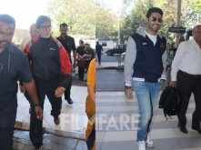 Amitabh Bachchan and Abhishek Bachchan clicked at the airport