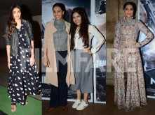 Athiya Shetty, Bhumi Pednekar and Swara Bhaskar watch Neerja with Sonam Kapoor
