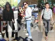 Huma Qureshi, Soha Ali Khan and Jimmy Sheirgill at the airport