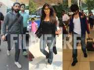 Farhan Akhtar, Esha Gupta and Kartik Aaryan spotted at the airport