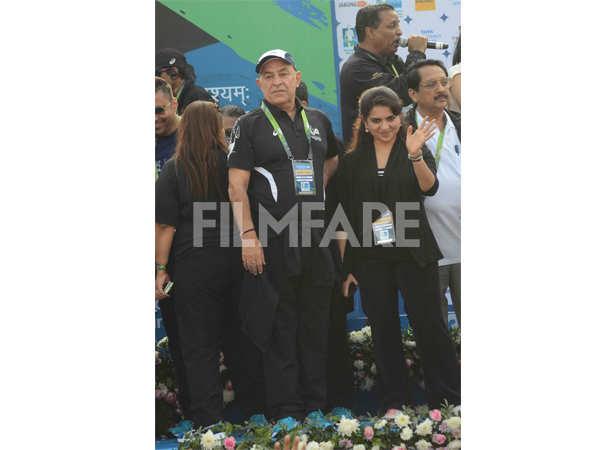 Dalip Tahil and Shaina NC