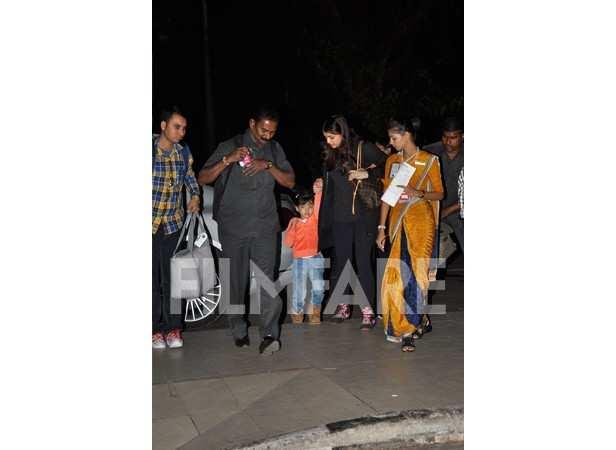 Aaradhya and Aishwarya Rai Bachchan