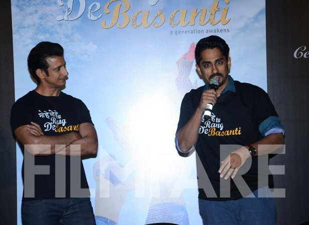 Sharman Joshi and Siddharth