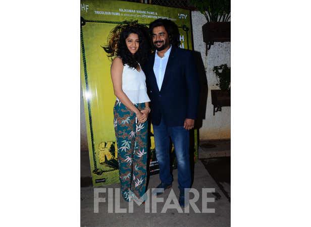 R Madhavan with wife Sarita