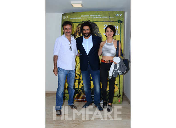 Rajkumar Hirani, Kangana Ranaut and R Madhavan