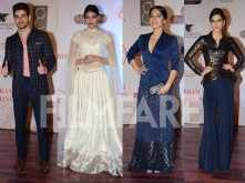 Sooraj, Athiya, Bhumi and Kriti clicked together