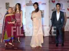 Jaya Bachchan, Shweta Bachchan Nanda and Gauri Khan celebrate with Vikram Phadnis