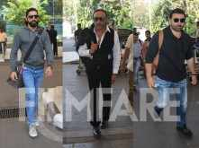 Farhan Akhtar, Jackie Shroff and Sunny Deol snapped at the airport