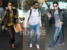 Kajol, Sidharth, Abhishek clicked at the airport