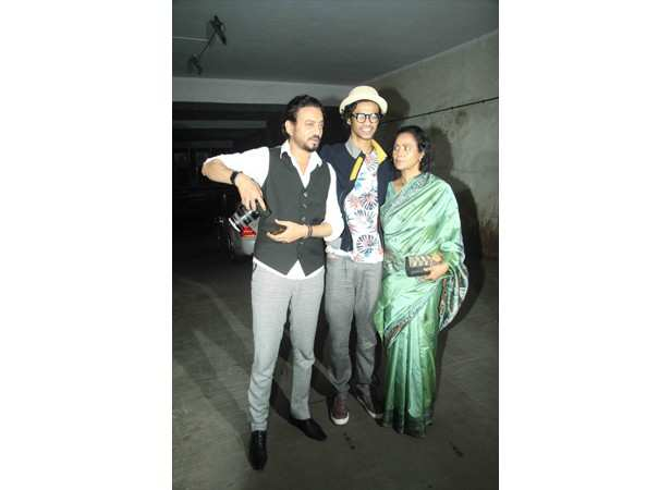 Irrfan with his wife Sutapa Sikdar and their son