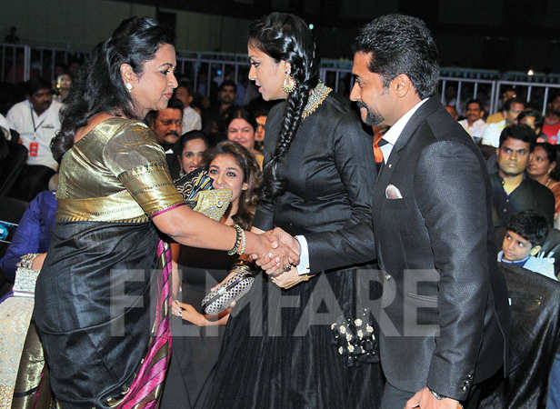 Radhika Sarathkumar touches base with Jyothika and Suriya