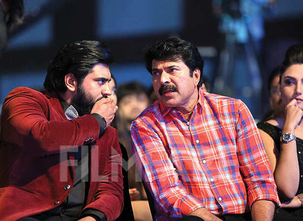 Nivin Pauly shares a moment with Mammootty