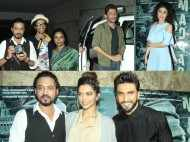 Ranveer Singh, Deepika Padukone, Deepak Dobriyal, Neil Nitin Mukesh attend the screening of Madaari