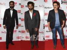 Dhanush, Allu Arjun, Venkatesh arrive in style at the 63rd Britannia Filmfare Awards