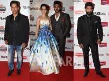 Vikram, Tamannaah, Ram Charan, Rana Daggubati at the 63rd Britannia Filmfare Awards