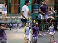 Spotted: Saif Ali Khan plays tennis with Sara and Ibrahim
