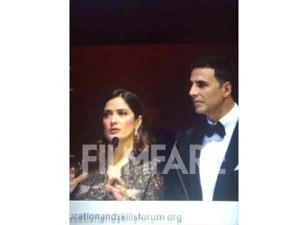 Salma Hayek and Akshay Kumar