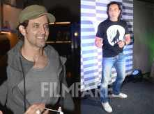 Hrithik Roshan and Bobby Deol at a store launch