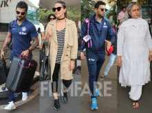 Bollywood and cricket stars snapped at the airport