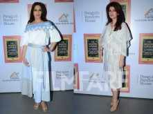 Twinkle Khanna celebrates with Sonali Bendre
