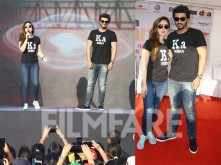 Kareena Kapoor Khan and Arjun Kapoor flag off a women's marathon