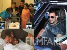 Salman Khan and family welcomes Arpita and Aayush Sharma's son Ahil