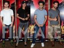 Sooraj Pancholi, Sonakshi Sinha and Ayushmann Khurrana watch Rocky Handsome with John Abraham