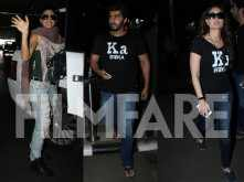 Jacqueline Fernandez, Arjun Kapoor and Kareena Kapoor Khan return to Mumbai