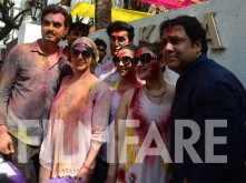 Esha Deol and Govinda celebrate Holi together