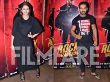 Huma Qureshi watches Rocky Handsome with John Abraham