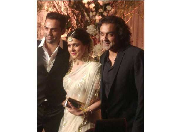 Abhay Deol, Tanya and Bobby Deol