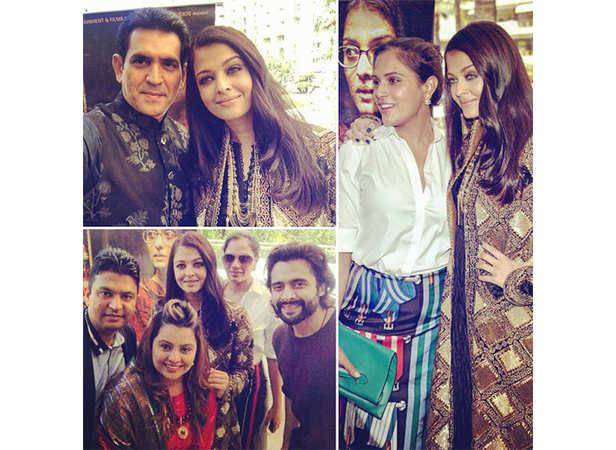 Omung Kumar, Aishwarya Rai Bachchan, Richa Chadha, Vanita Kumar and Jackky Bhagnani