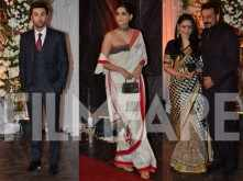 Ranbir Kapoor, Sonam Kapoor and Sanjay Dutt at the Bipasha-Karan Wedding