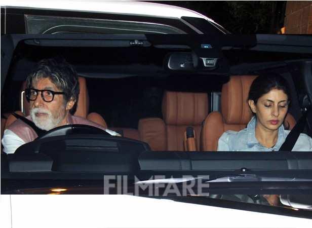 Amitabh Bachchan and Shweta Bachchan-Nanda