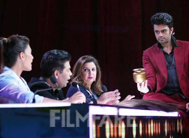 Manish Paul,Farah Khan, Karan Johar and Jacqueline Fernandes